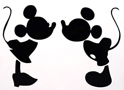 Amazoncom Mickey Mouse Kissing Minnie Mouse Decal Vinyl Sticker