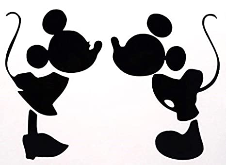 Mickey And Minnie Mouse Stickers.Mickey Mouse Kissing Minnie Mouse Decal Vinyl Sticker Cars Trucks Vans Walls Laptop Black 5 75 In Cci386