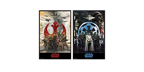 Trends International Wall Poster Star Wars Rogue One Empire & Assemble Bundle, 22.375