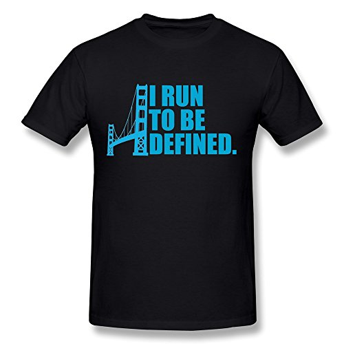 AnneLano Men's I Run To Be Defined Teeshirts X-Large Black (Lead Walkway)