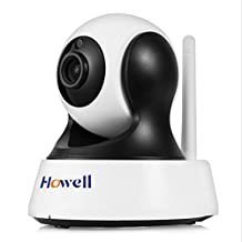 Upgrade 1080P Video Night/Day Vandal-proof Surveillance Cam P2P 2-way Audio Wifi CCTV Accessary with Internet Access , Black, API license, Night Vision 10m, QR code Dome Baby Pet Home Monitor
