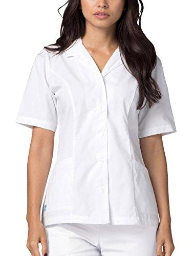 - Adar Universal Lapel Collar Nurse Top - 605 - White - 2X