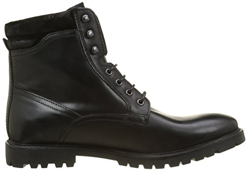 Negro Hombre 010 Base London York Waxy Botas Black Militar CXgO7wq