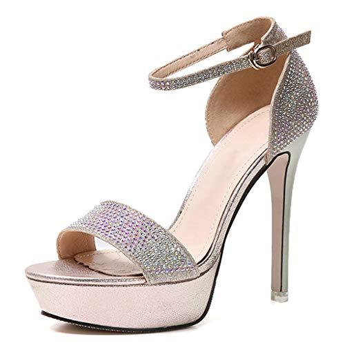 Mujer Altos Tacones Zapatos Abierta Punta Impermeable Fino Tacon Plataforma Sandalias Lzw De YqBEEH