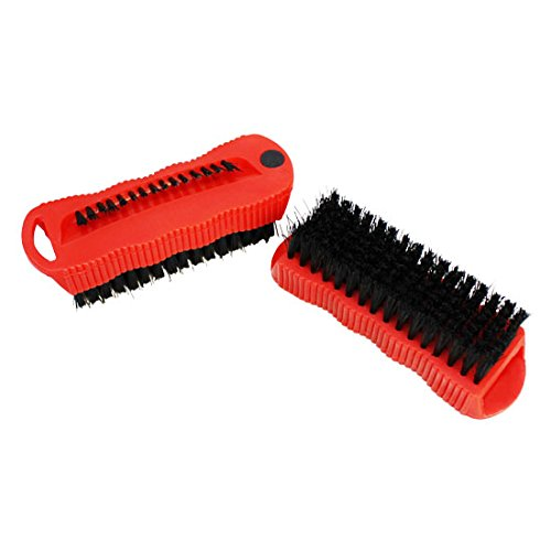 (2 Pc Fingernail Double Sided Brush Magnet Scrubbing Nail Hand Scrub Cleaning)