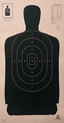 OFFICIAL NRA B-29 Shooting Target Police Silhouette (50x)