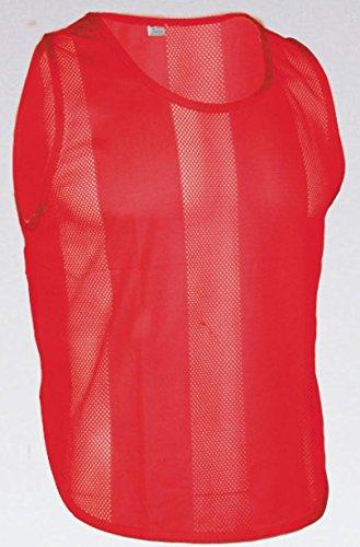 10x Markierungshemden/Trainingsleibchen 5 Farben - 3 Größen lieferbar (Rot, Junior)