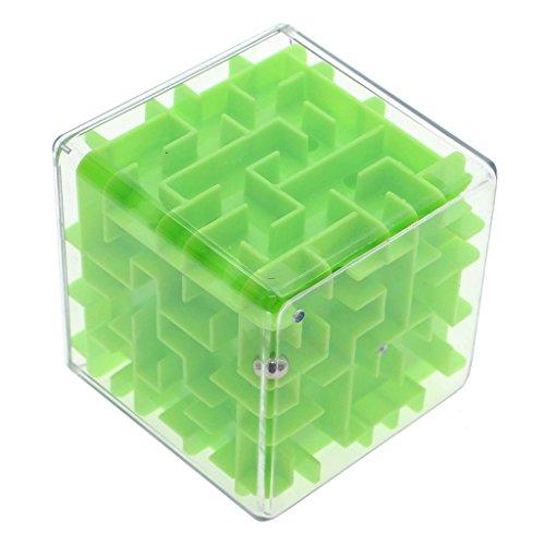 VANKER Adulte Enfant Élégant 3D Dédale Cube Magique Roulement Jeu Puzzle de Défi Vert