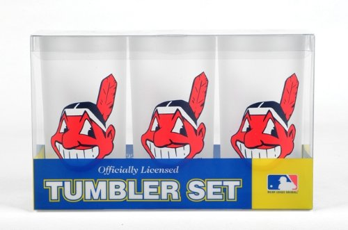 Nfl Tumbler Drinkware Set - MLB Insulated Tumbler (Set of 3) MLB Team: Cleveland Indians