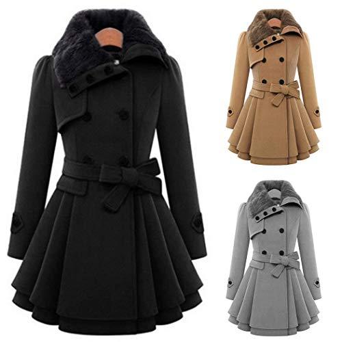Nouvelle Couche Femmes A Occasionnels Mode ligne Ourlet Gfone Double Manteaux Manteau Plissée Gray Outwear dIw8gxqE