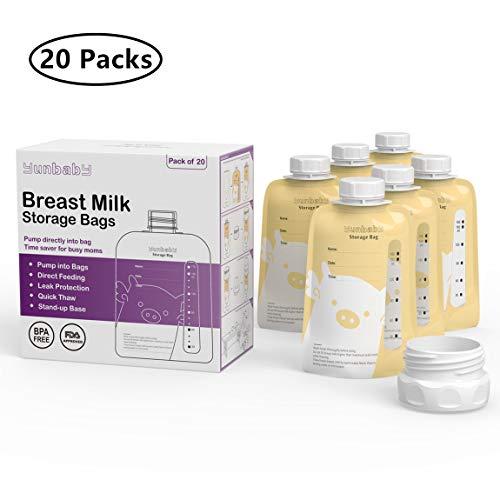 Breast Milk Storage Bags Twist Top Pouch, 20 Count 6oz/160ml