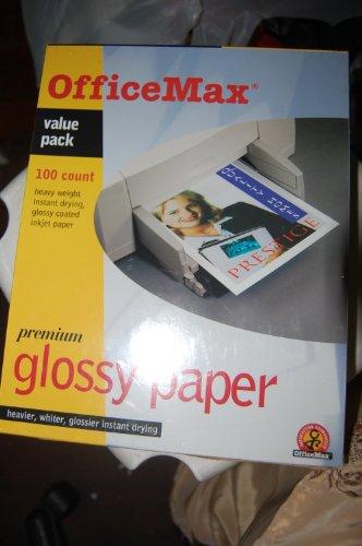 Officemax Premium Glossy Inkjet Photo Paper 100 Sheets8.5