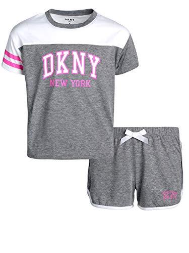 DKNY Girls' 2-Piece Summer Pajama Short Set (Spotty Charcoal, Medium / 8-10)' ()