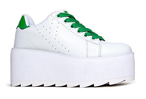 Green Stripe Sneakers - 7