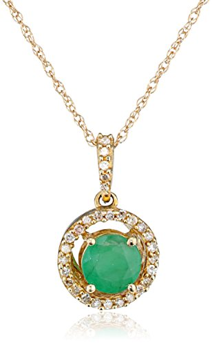 Gemstone Diamond Pendant Necklace Clarity