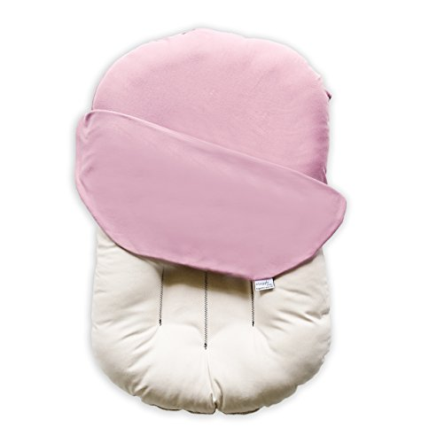 Snuggle Me Organic | Patented Sensory Lounger for Baby | Organic Cotton, Virgin Fiberfill | Bloom