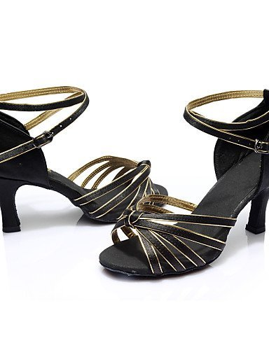 Satin Girl's more Quality Color Dance And Red Heel Shoes ballroom Women's Samba High Leatherette Customized Salsa Black Latin Shangyi 6twZqvnq