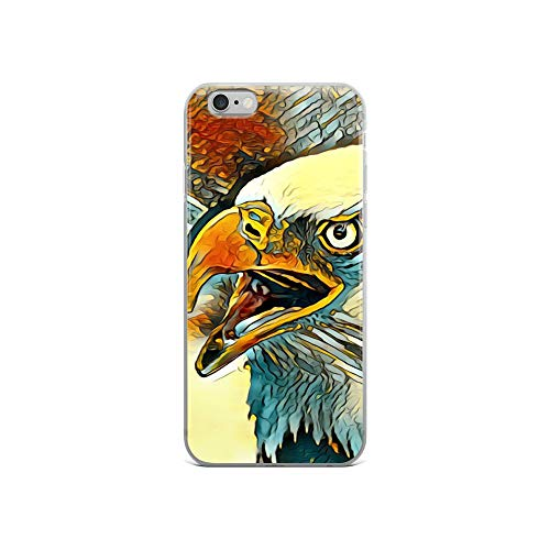 iPhone 6/6s Case Anti-Scratch Creature Animal Transparent Cases Cover Graphic of an Impressive American Eagle Animals Fauna Crystal Clear