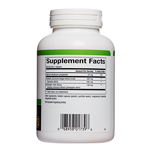 Natural Factors - Turmeric & Bromelain 450mg, Superior Standardized Extracts, 180 Capsules by Natural Factors (Image #1)