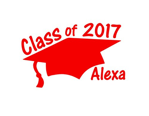 Personalized Class Of 2017 Graduation Car Decal Custom