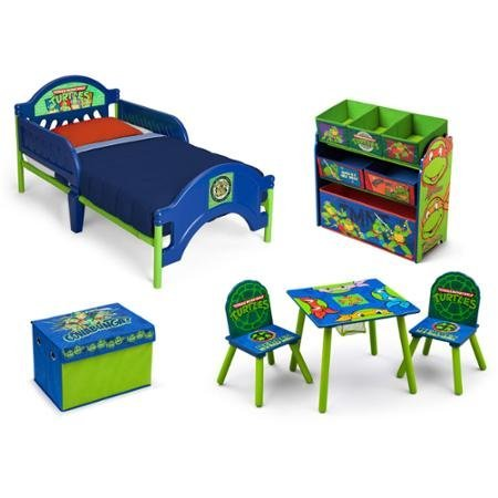 Fun Nickelodeon Ninja Turtles Room in a Box with BONUS Toy Bin