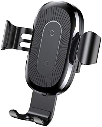 Wireless Fast Charger Gravity Car Mount For iPhone, black
