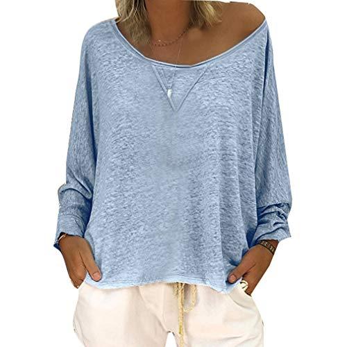 Donna Top Casual Blu Cielo Casual da 4XL T Jumper da S Shirt Pt0wxwqCvX