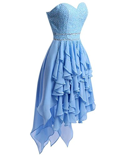 Low Blue Bess High Prom Bridal Women's Royal Homecoming Dresses Short Beaded Dress SPPqtwR