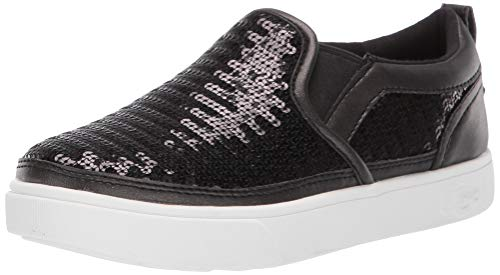 UGG Girls' K CAPLAN Sequin Slip-ON Sneaker Black 6 M US Big Kid ()