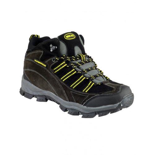 Mirak Herren Kentucky Trekking-Schuhe / Wanderstiefel / Wanderschuhe Grau/Gelb