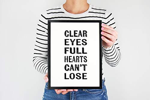 Clear Eyes Full Hearts Thick Poster Friday Night Lights