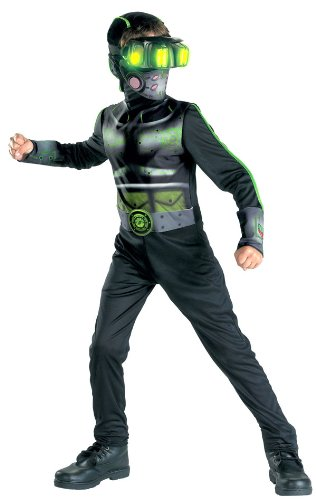 stealth commando w glow eyes classic child costume size 4 6 small by disguise - Splinter Cell Halloween Costume