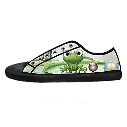 Custom Lustiger Frosch Mens Canvas shoes Schuhe Lace-up High-top Sneakers Segeltuchschuhe Leinwand-Schuh-Turnschuhe A