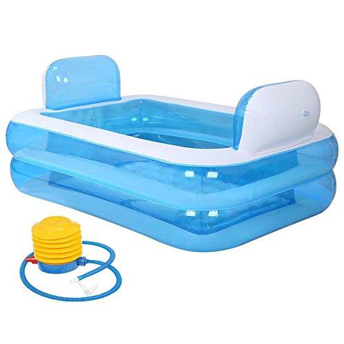 GBYYMX Bañera Hinchable Bañera Inflable bañera Plegable Azul ...