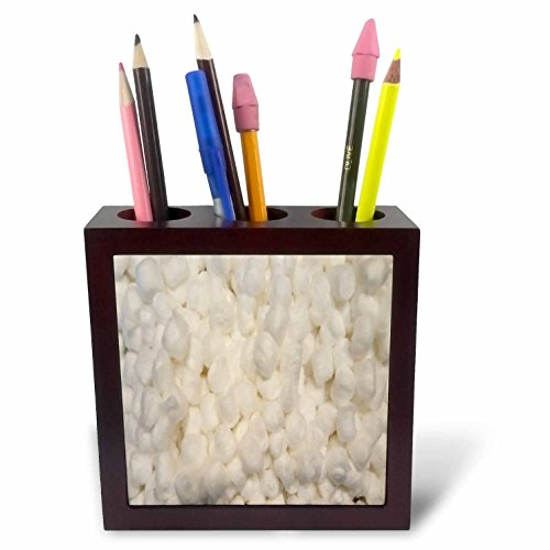 3dRose TDSwhite – Miscellaneous Photography - Small Cotton Balls Puffs - 5 inch Tile Pen Holder (ph_285437_1) by 3dRose