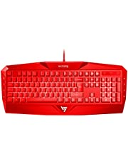 Gaming Keyboard UK, Comfortable & Durable VicTsing USB Wired Keyboard with Rainbow LED Backlit, 8 Multimedia Key, 19 Anti-ghosting Keys, Easy Connect with Laptop, PC etc. - Designed for Gaming