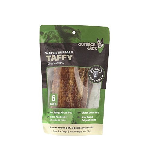 Outback Jack 70350Ea Water Buffalo Bully Taffy Dog Treats Dog Treat ( 1 Pouch), One Size