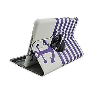 HPT Anchor Pattern 360 Degree Rotation PU Leather Full Body Case for iPad mini 3, iPad mini 2, iPad mini