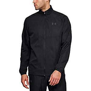 Under Armour Men's Sportstyle Woven Full Zip Jacket, Black (001)/White, Medium