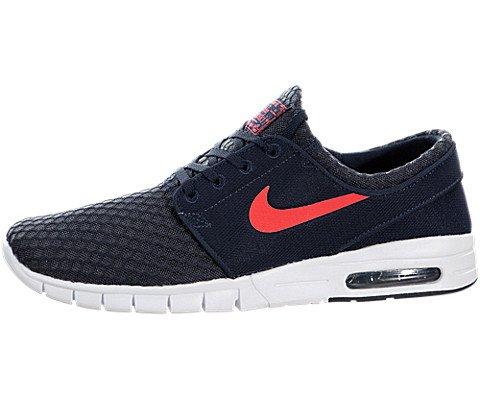 Nike Stefan Janoski Max Mens Sneakers, Obsidian/White/Hot Lava, 8.5 D(M) US