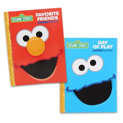 Sesame Street Coloring Book Set (2 Books - Elmo and Cookie Monster) ()