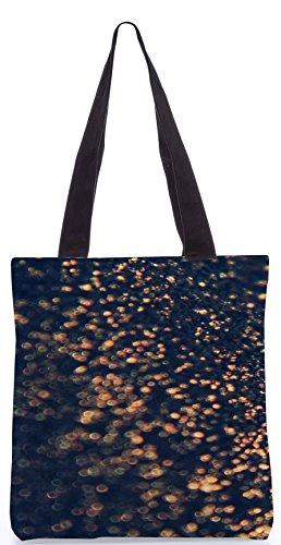 Snoogg Wave-Kristallreflektions 13.5 x 15 Zoll-Shopping-Dienstprogramm-Einkaufstasche aus Polyester-Segeltuch gemacht