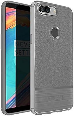 Bumper OnePlus 5T Funda Silicona, Forhouse OnePlus 5T Carcasa Ultra Slim Back Case con TPU Silicone Anti-rasguños A prueba de choques Protector ...