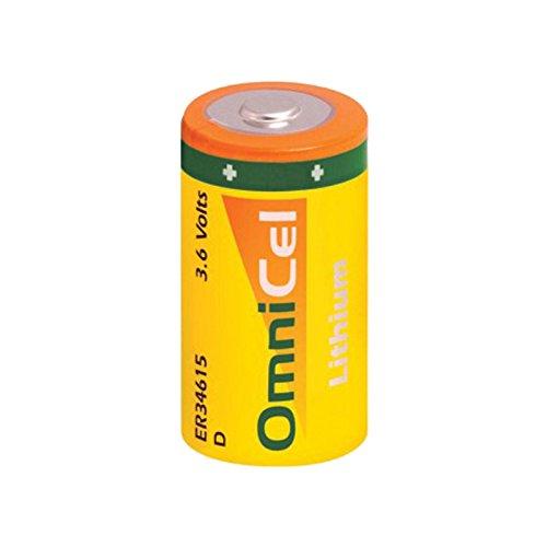 OmniCel ER34615 3.6 Volt 19Ah Size D Lithium Button Top Battery Replaces Saft LS-33600 LS33600C, Eagle Pitcher PT-2300, Tadiran TL-2300 TL-4930 TL-5930, Xeno XL-200F XL-205F, Tekcell SB-D01 - Pitcher Eagle