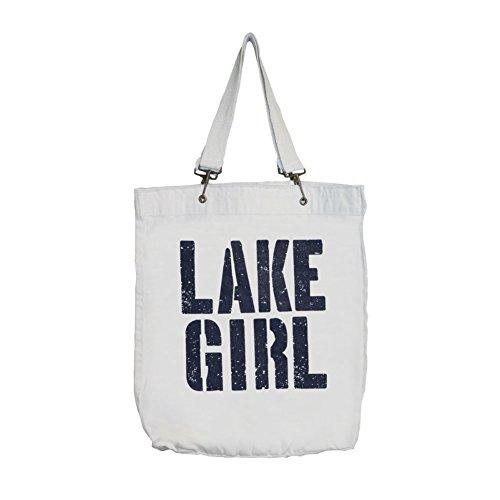 Women's Lake Girl Tote - Cotton Canvas Messenger Bag - 13.75