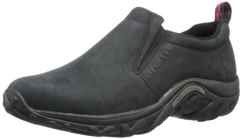 Merrell Men's Jungle Moc Nubuck Slip-On Shoe,Black Nubuck,10.5 M US ()