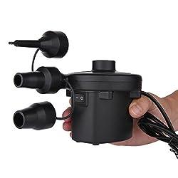 Cadrim Electric Air Pump 110v Ac Portable Air Pump For Inflatable Air Mattress With 3 Nozzles(home Use)