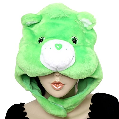 Adult Care Bears Funshine Bear Costumes (3D Care Bear Good Luck Bear Costume Hat Kigurumi Cap Good Luck Bear Plush)