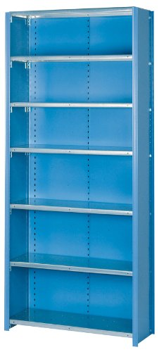 Lyon DD8091SGLV 8000 Series Closed Shelving Starter with 7 Galvanized Shelves, 36