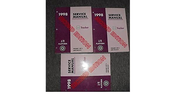 chevrolet tracker 1998 manual
